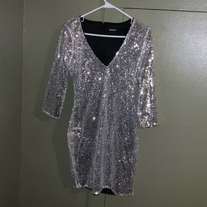 Brand New Silver Sequin Dress - never worn.